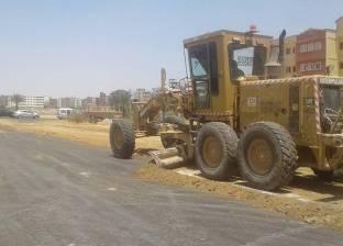حي فيصل بالسويس يواصل عمليات التطوير لطريق الجامعة