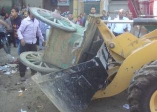 تحرير 122 محضر إشغالات وبيئة خلال حملة مكبرة في ديروط