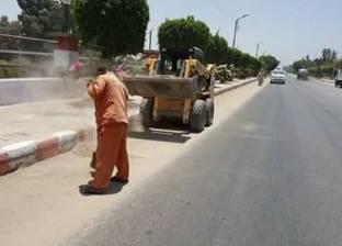 حملة نظافة وإزالة 8 حالات تعدي على أراضي دار السلام في سوهاج