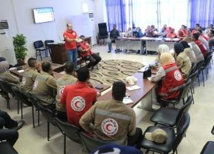 انطلاق معسكر الهلال الأحمر استعدادا لمواجهة الأمطار في المحافظات
