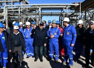 وزير البترول يتفقد مشروع مصنع الشركة «المصرية - البحرينية»