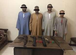 ضبط 4 أشخاص بحوزتهم أسلحة نارية غير مرخصة بالقوصية في أسيوط