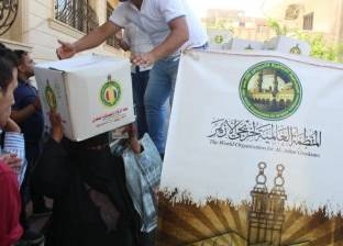 قافلة الأزهر توزع مساعدات غذائية وإنسانية على أهالي رفح والشيخ زويد