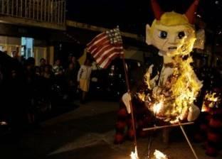 """""""حرق ترامب"""" لطرد الأرواح الشريرة في جواتيمالا"""