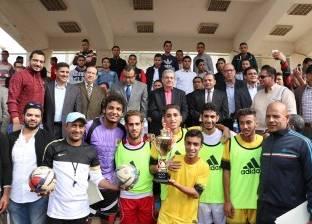 رئيس جامعة بني سويف يشهد حفل ختام أنشطة طلابية