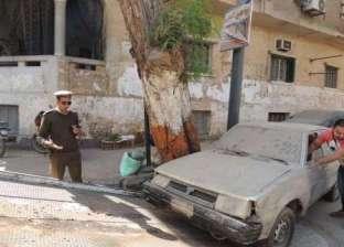حملات مرورية بالقاهرة لرفع السيارات المتروكة في الميادين والشوارع