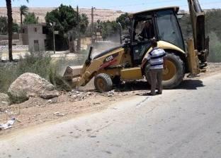 رفع 95 طن مخلفات صلبة بمدينة ساقلته في سوهاج