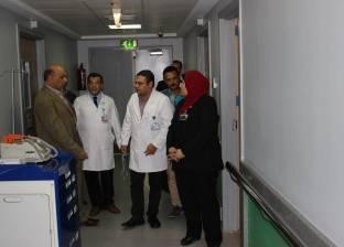 """وكيل """"تعليم الغربية"""" يتفقد الفصل الدراسي بمستشفى 57357 فرع طنطا"""