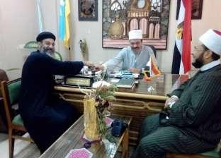 """وفد بيت العائلة يهنئ رئيس """"الأزهر بالإسكندرية"""" بعيد الأضحى بمكتبه"""