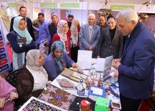 """محافظ المنوفية يتفقد جناح المحافظة بمعرض """"إجازة نصف العام"""""""