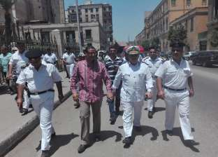 بالصور| حملة لإزالة الإشغالات بمنطقة الوزارات في السيدة زينب