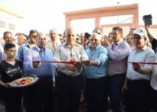 محافظ بورسعيد ووزير الموارد المائية يفتتحان محطة صرف الحسينية