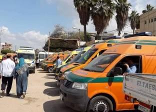 """إصابة 7 مواطنين في انقلاب سيارة """"ميكروباص"""" بسوهاج"""