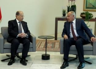 """""""أبو الغيط"""" يلتقى الرئيس اللبناني على هامش قمة بيروت"""