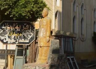 بالصور| القمامة تُحاصر تمثال سعد زغلول بمطوبس.. ومجلس المدينة يُشن حملة نظافة