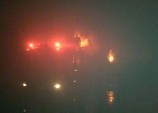 حريق بأشجار النخيل المجاورة لمساكن الطب البيطري في البحيرة دون إصابات