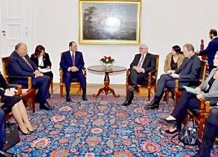 السيسي يلتقي رئيس ألمانيا ويجريان جلسة مباحثات موسعة