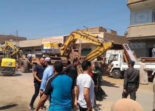 إزالة 30 حالة تعد على أملاك الدولة والري في حملات أمنية بالغربية