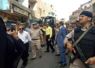 بالصور| مدير أمن المنوفية يقود حملة لإزالة الإشغالات ببركة السبع
