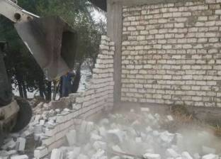 إزالة 50 حالة تعد بمركز بنى مزار في المنيا