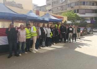 المواطنون يتوافدون على لجان المعادي للتصويت على التعديلات الدستورية