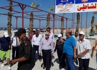 محافظ بورسعيد يتفقد أعمال إنشاء مركز ثقافة الشاطئ ويوجه برفع الإشغالات حوله