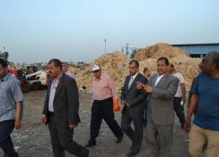 محافظ الغربية يتفقد مصنع تدوير القمامة الجديد بالمحلة