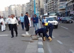 تطهير الشنايش والمطابق بطريق كورنيش الإسكندرية