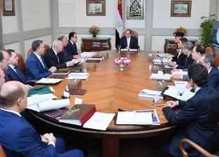 """السيسي يجتمع بـ""""مدبولي"""" و10 وزراء ورئيس المخابرات بشأن السلع الأساسية"""