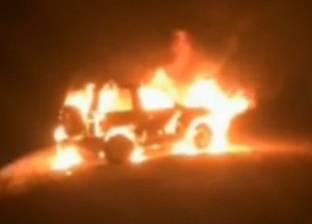 اخماد حريق في عربة قطار مميز بمحطة سكك حديد نجع حمادي