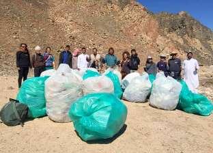 """""""البيئة"""" تنظم حملة نظافة بمحمية أبو جالوم بمدينة دهب"""