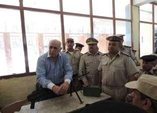 مدير أمن المنيا يتفقد إدارة قوات الأمن