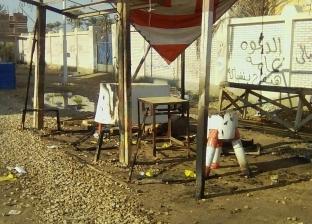 مجهولون يشعلون النار في شادر اللحوم بالسويس.. و«البيطري» يتهم الجزارين