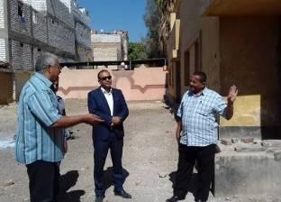 """رئيس مركز أبوقرقاص يتابع مستوى الخدمات العامة بـ""""نزلة أسمنت"""" في المنيا"""