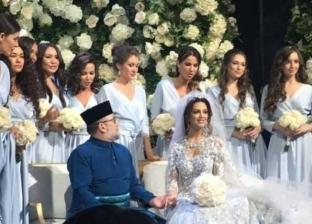 في حفل زفاف أسطوري.. ملك ماليزيا يتزوج ملكة جمال روسية بعد إسلامها