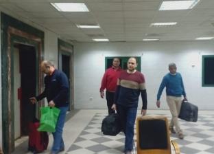 صور.. وصول طواقم طبية لمستشفى كفر الزيات لاستقبال حالات كورونا