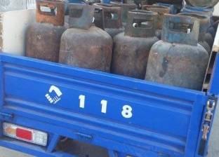 ضبط 80 اسطوانة بوتاجاز مدعمة بمصنع طوب في البحيرة