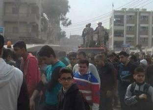بالصور| تشييع جثمان شهيد الأحداث الإرهابية في سيناء