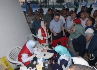 """محافظ الإسكندرية يتفقد نقطة مبادرة """"100 مليون صحة"""" بمركز شباب الحرمين"""