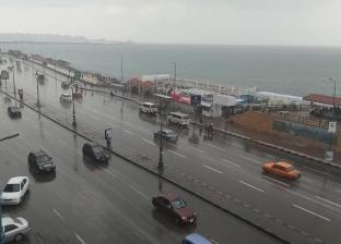 سقوط أمطار متوسطة على مدن وقرى شمال سيناء