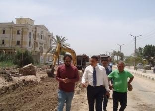 بالصور| السكرتير العام المساعد لكفر الشيخ يتابع رصف شوارع العاصمة