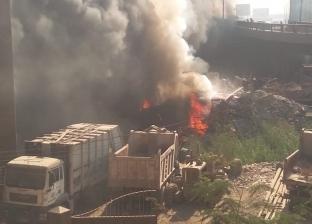 بالصور| حريق في مخزن تابع لحي الهرم.. و10 سيارات إطفاء للسيطرة عليه