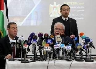 موتمر وزير الخارجية الفلسطيني رياض المالكي