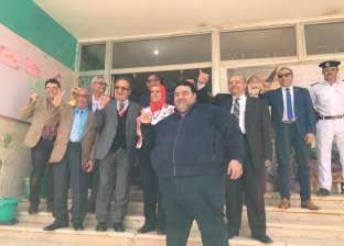 """أساتذة """"مصر للعلوم والتكنولوجيا"""" والعاملين بها يشاركون في الاستفتاء"""