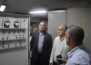 """رئيس """"مترو الأنفاق"""" والعضو المنتدب يتفقدان مشروع تحديث محطات القوى"""
