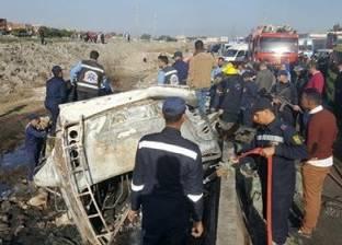 بالصور| تفاصيل تفحم 8 عمال وإصابة 21 آخرين في حادث أوتوبيس الإسكندرية