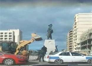 استبعاد رئيس حي الشرق ببورسعيد بعد واقعة تحطم تمثال عبد المنعم رياض