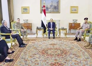 الرئيس يبحث مكافحة الإرهاب مع قائد القيادة الأمريكية و«واشنطن» تفرج عن 1.2 مليار دولار مساعدات لمصر
