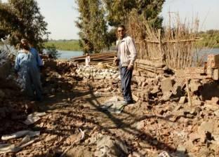 إزالة 38 تعد فيثالث أيام حملة إزالة التعديات على نهر النيل بالقليوبية