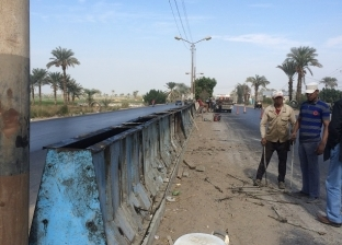 """بالصور  محافظ الفيوم: رفع كفاءة وصيانة """"الفيوم-القاهرة"""" الصحراوي"""